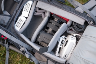 Das Fotofach. Die XPRO2 mit dem 16-55mm wird gerade zum Fotografieren verwendent